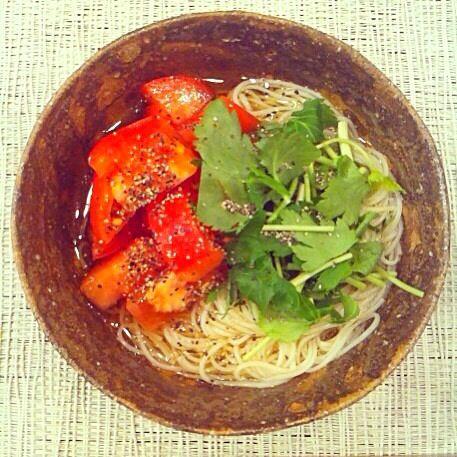 レシピとお料理がひらめくSnapDish - 32件のもぐもぐ - オリーブオイルトマトそうめん by yumi