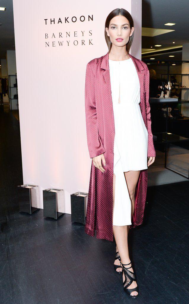 Lily Aldridge's High-Fashion Hair Tuck