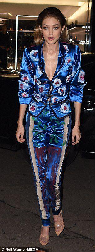 Bella Hadid and Gigi Hadid head to Vogue party in Paris