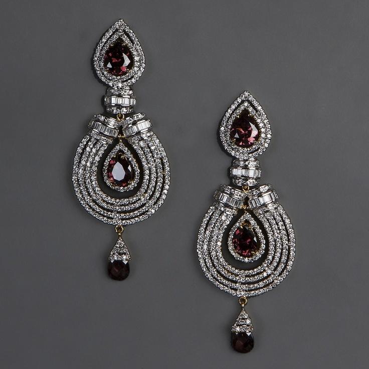 American Diamond Earrings with Rodo Stones $117.20