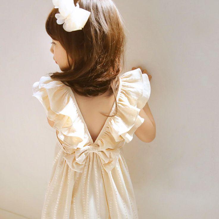 ruffles back girl dress