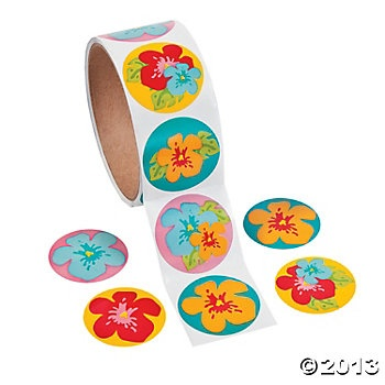 Hibiscus Roll Stickers