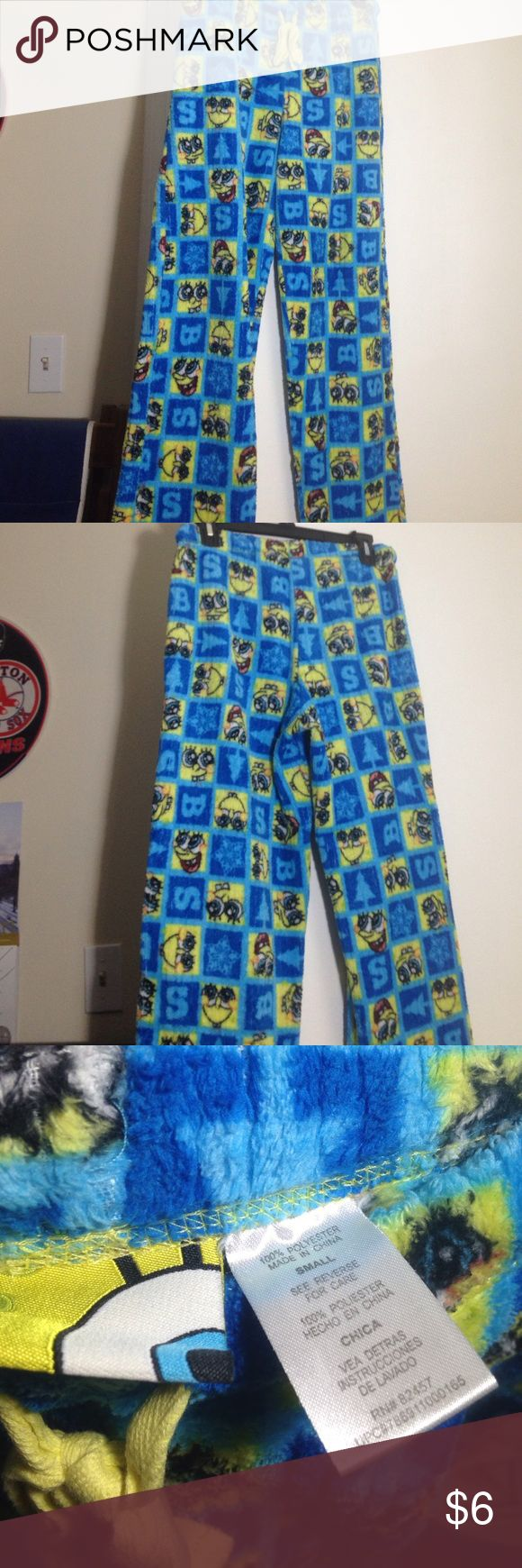 SpongeBob pajama pants, Size Small SpongeBob pajama pants, size small. Gently worn. More for appearance than warmth. Cute for anyone who's a fan! SpongeBob Squarepants Intimates & Sleepwear Pajamas