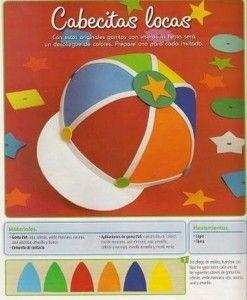 Cómo hacer una gorra de goma eva realizando manualidades para niños
