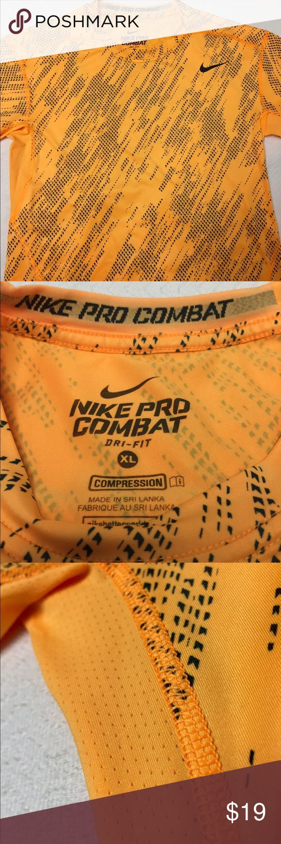 *SOLD*Mens Nike Pro Combat Compression shirt S Tried on once. Basically brand new. XL Compression is basically a Small or very fitted Medium, depending on how you like to wear your workout shirts. Very nice mesh fabric on sides for breathability. Retails at $65. Nike Shirts