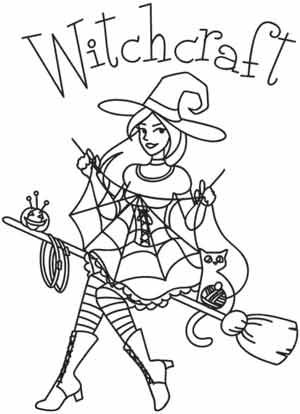 We all know crafters work magic! This witchy design is great for Halloween shirts, craft totes, and lots more. Downloads as a PDF. Use pattern transfer paper to trace design for hand-stitching.