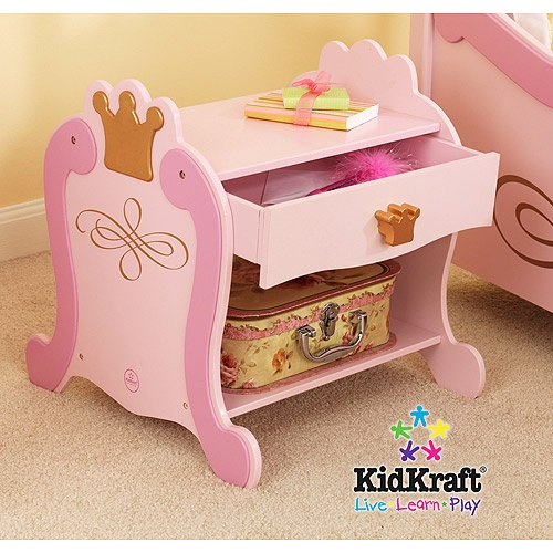 KidKraft - Princess Toddler Nightstand, this is so cute and would be perfect with her new castle bed