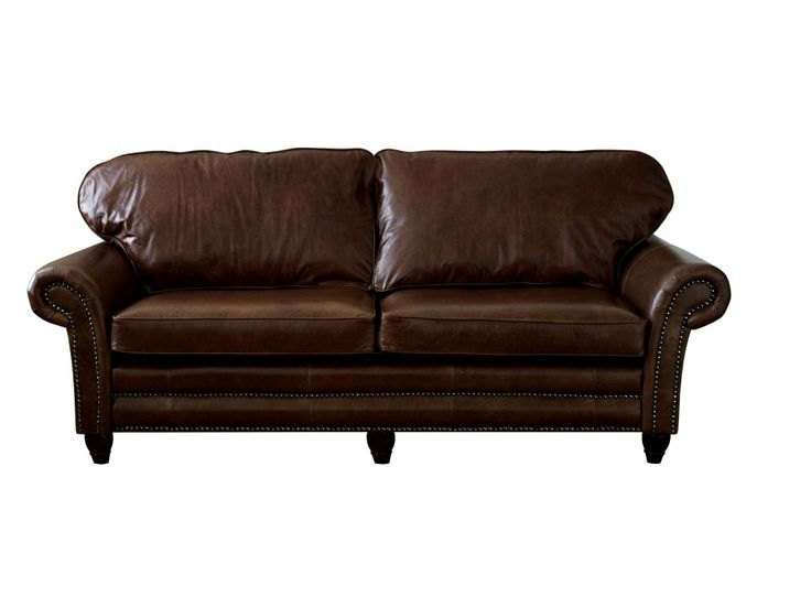 The English Sofa Company | The Cromwell Traditional Leather Sofa - Looking for a sofa on legs ? The Cromwell sofa on wooden legs or turned legs with castors.