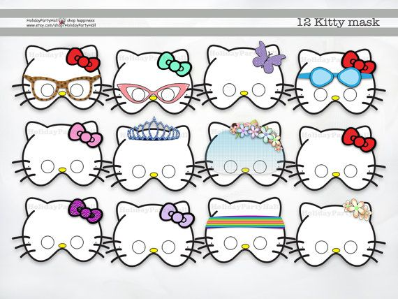 42 best images about kitty birthday party on pinterest for Hello kitty mask template