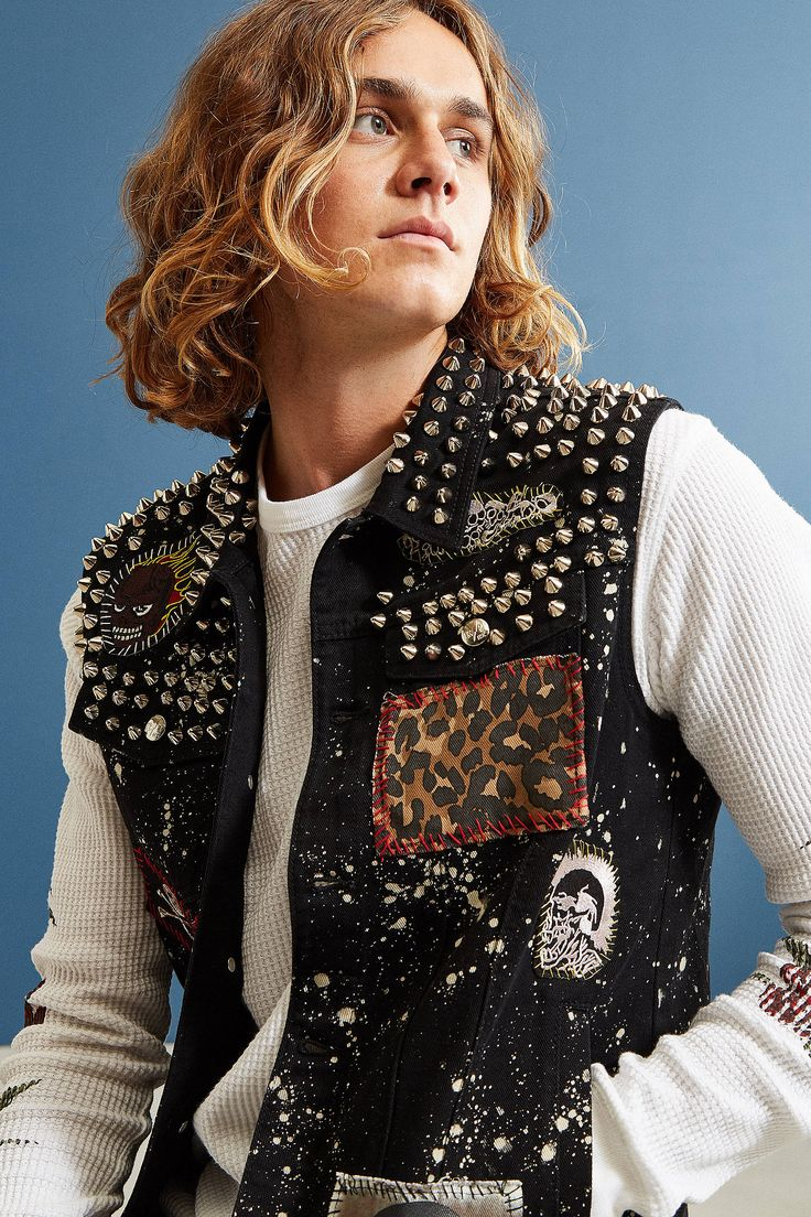 Shop Tripp NYC Studded Patchwork Denim Vest at Urban Outfitters today. We carry all the latest styles, colors and brands for you to choose from right here.