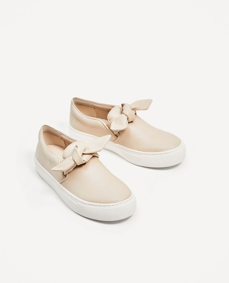 ZARA - WOMAN - SNEAKERS WITH BOW Cute alternative to the sport look.