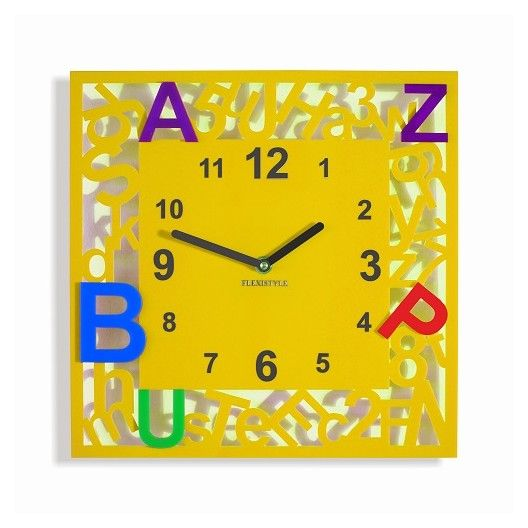 Stvorcove detske hodiny s pismenkami