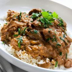 Brazilian Stroganoff. Try with lamb.