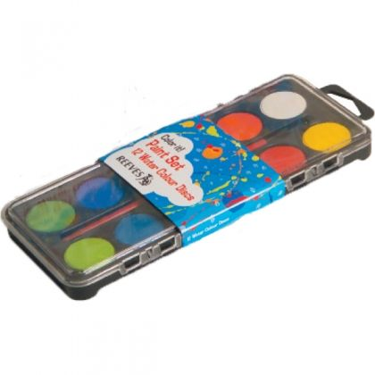 REEVES 12 WATERCOLOUR DISC SET  £2.50