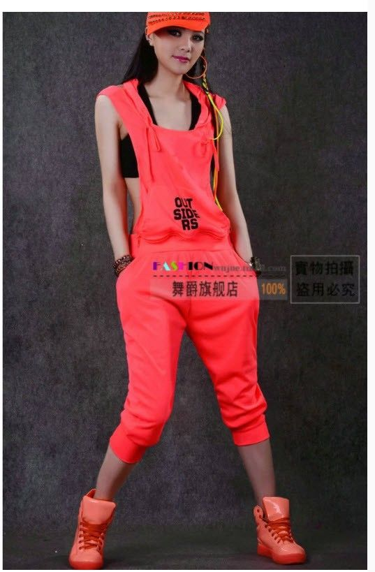 #1008 2015 Neon Dance Fashion Overalls Candy Hiphop Hip hop women Joggers Sport Women pants suits Pants female Harem-in Pants & Capris from Women's Clothing & Accessories on Aliexpress.com | Alibaba Group