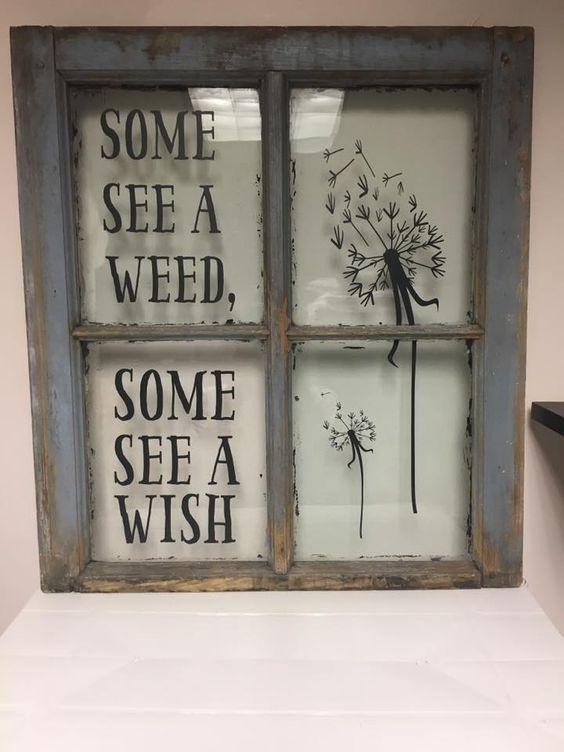 Some See a Weed Vintage Window