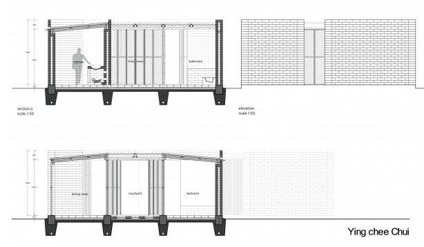 Plano de cortes: Plano que se obtiene al seccionar imaginariamente un edificio por una superficie plana vertical; en él se representan los perfiles del edificio o algunos detalles del mismo