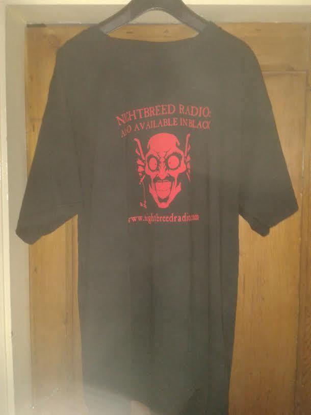 Black Gothic Short Sleeved T shirt Top Nightbreed Radio