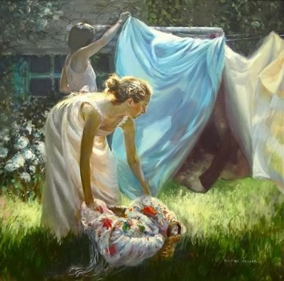 Laundry Day by Mary Binford Miller | Stinky Towels? | Smelly Laundry?| http://WasherFan.com | Permanently Eliminate or Prevent Washer & Laundry Odor with Washer Fan™ Breeze™ |#Laundry #WasherOdor#SWS