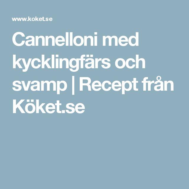 Cannelloni med kycklingfärs och svamp | Recept från Köket.se