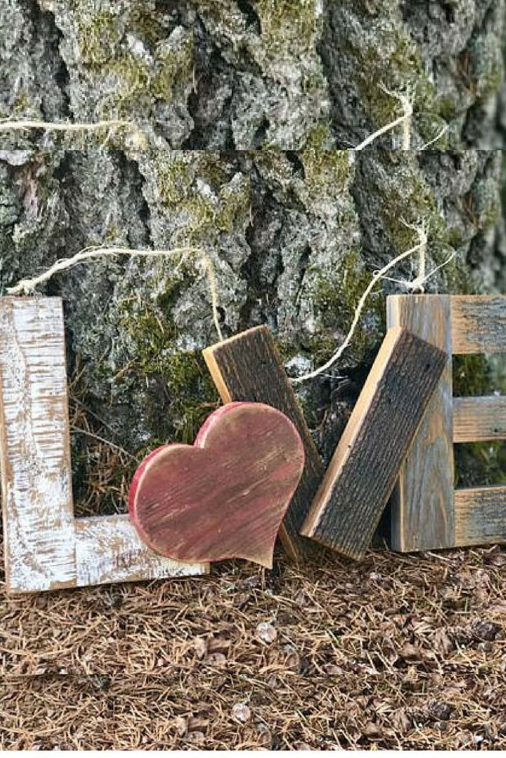 This Love Sign Made From Scrap Wood Would Be A Great Piece In Your Farmhouse Or Shabby Chic Style House Ad Fa Love Wood Sign Wood Signs Distressed Wood Signs
