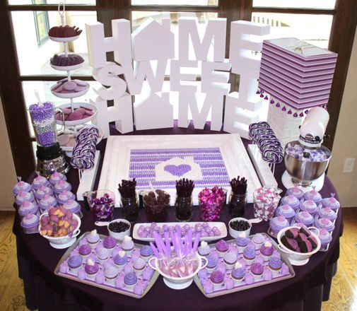 Purple Party Table Love The Candies In The Blender And