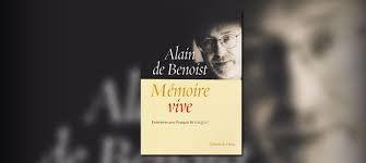 Mémoire vive, Alain de Benoist, Krisis Diffusion