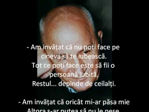 Am invatat  - Octavian Paler - YouTube