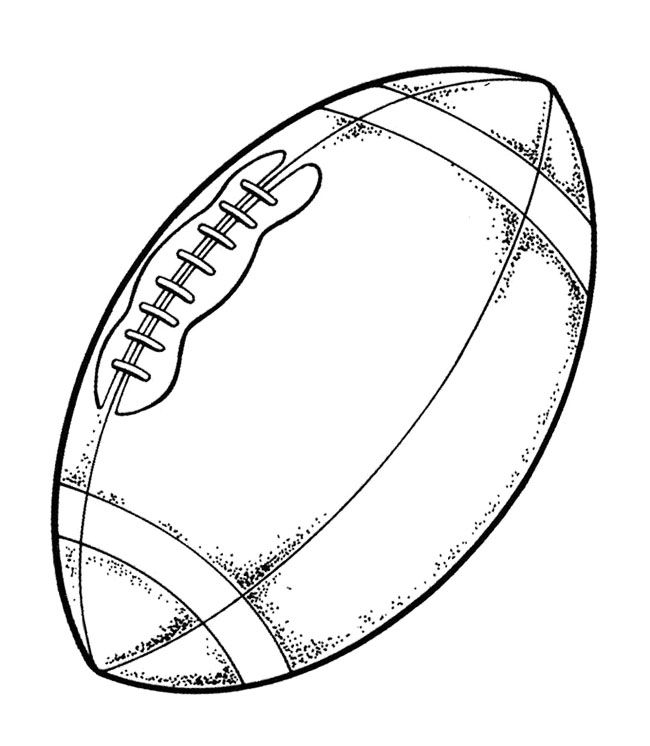 ball super bowl coloring page - Super Bowl Trophy Coloring Pages