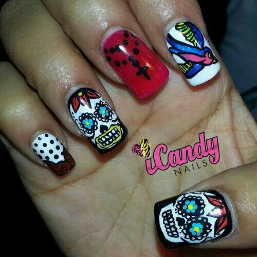 ★ day of the dead nails