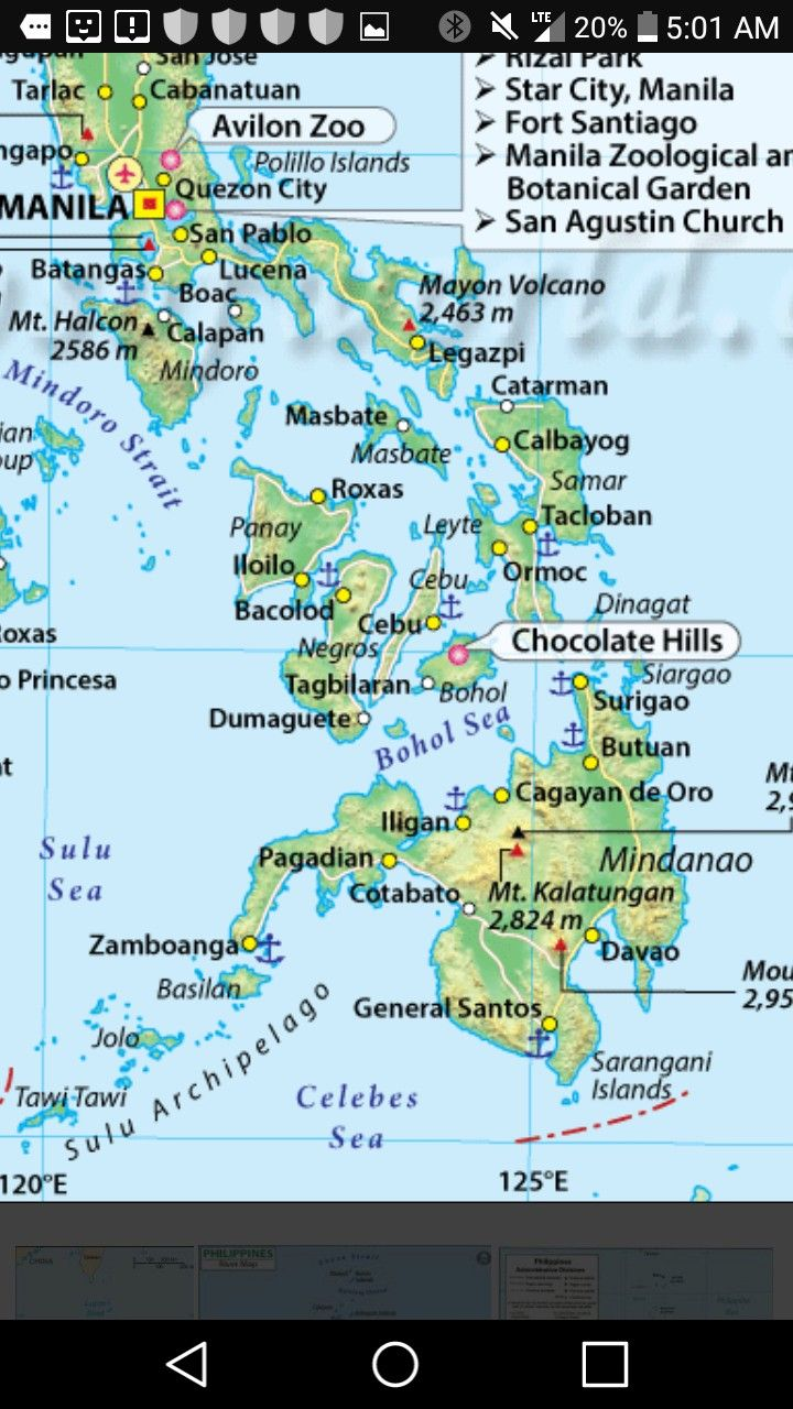 Note the positions of Manila, Mindoro and Siargao on this map.