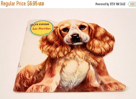 Los Perritos Silueta Golden - Golden Shape Book - Puppies In Spanish - Picture Book  The Pink Room  161123B by ThePinkRoom