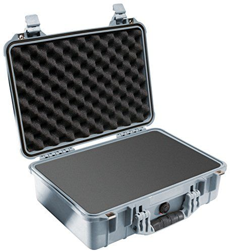 Pelican Camera Case With Foam (Silver) 1500 >>> undefined #BagsCases