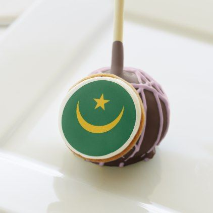 #Mauritania Flag Cake Pops - #country gifts style diy gift ideas