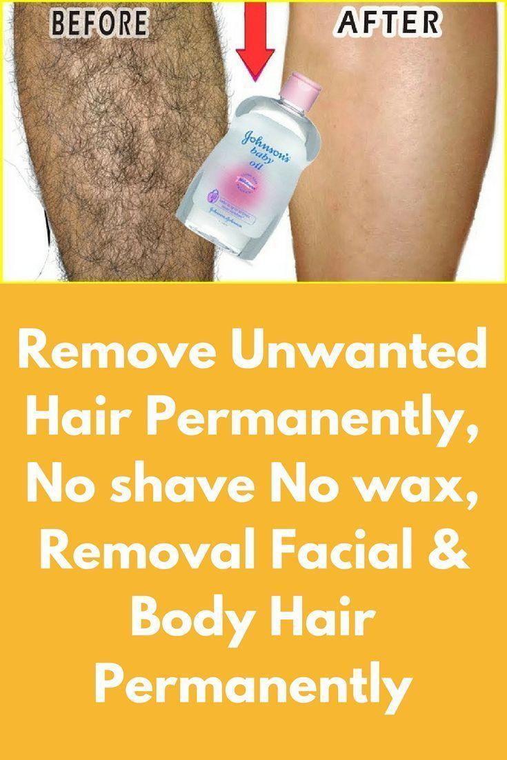 Remove Unwanted Hair Permanently No Shave No Wax Removal Facial