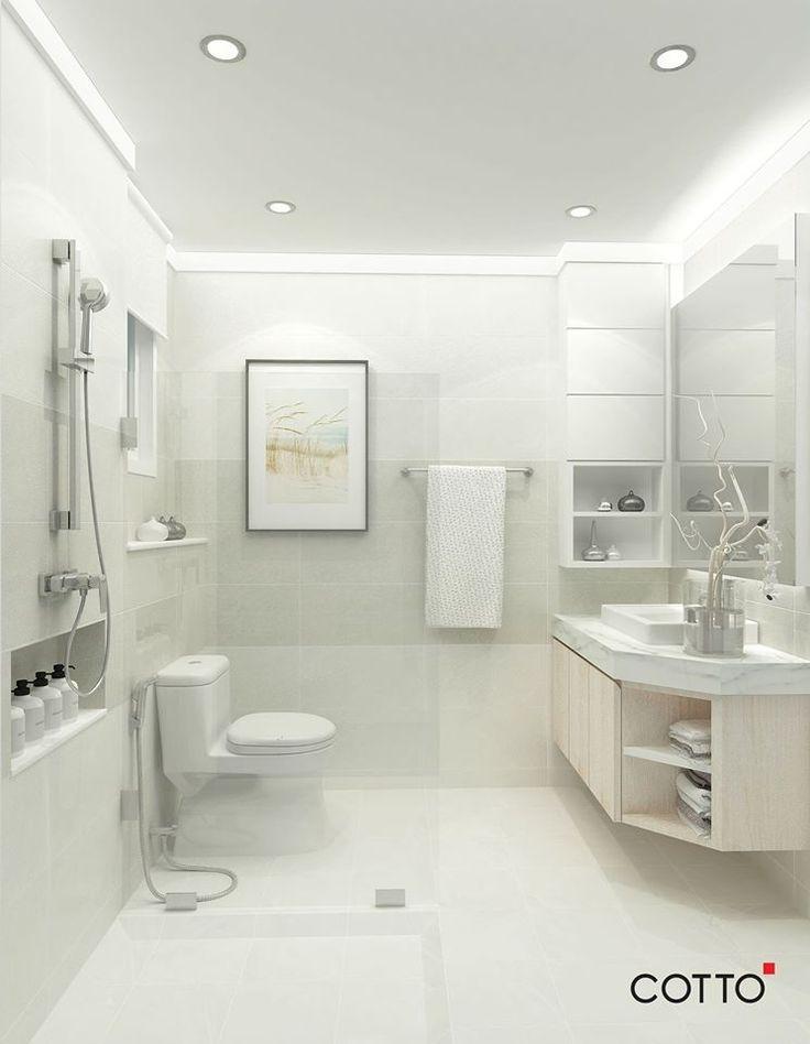 สำหร บห องน ำท ม พ นท ไม มากน กและต องการให ห องด กว างมากข น แนะนำให ใช กระเบ องโทนส สว างอย างกระเบ อง Carina Warm Bathroom Home Design Decor Bathroom