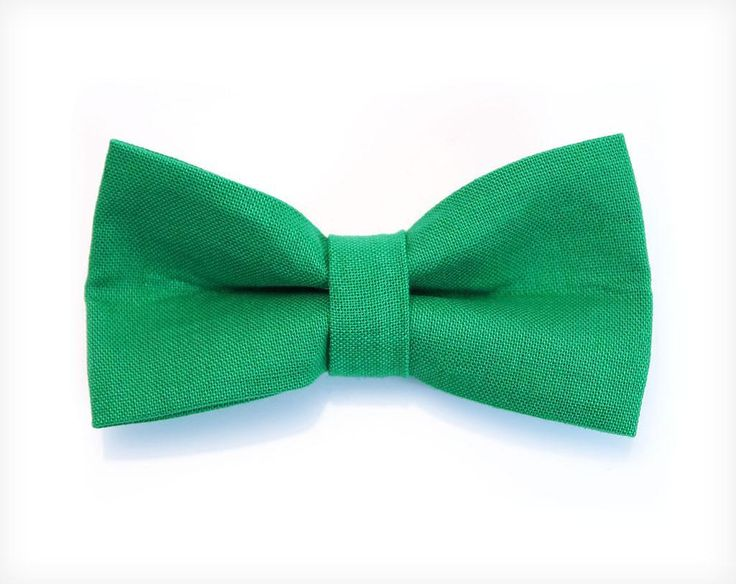 """Pet Bow Tie - """"Roman Holiday"""" - Emerald Green Detachable Bowtie for Cats + Dogs - St. Patrick's Day"""