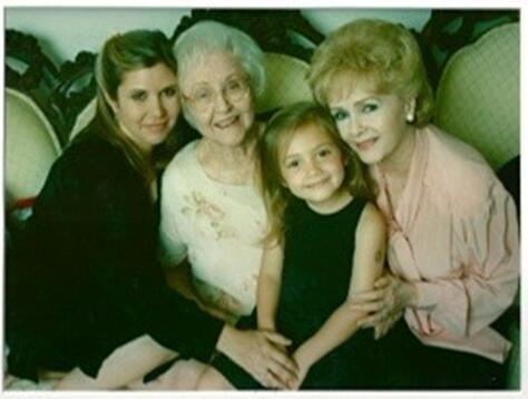 Four generations - Carrie, grandma Maxine, granddaughter Billie & Debbie