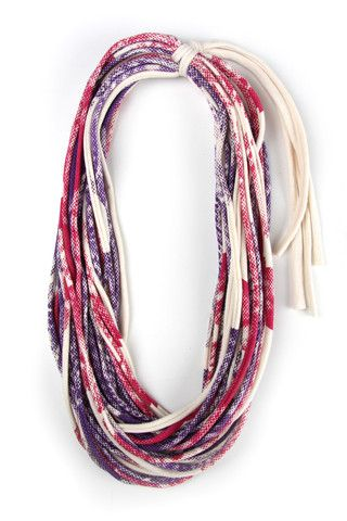 http://shop.necklush.com/collections/fabric-necklace-scarf-jewelry/products/magenta-purple-spring-scarf THIS IS A CLASSIC PRINT, MAGENTA RED AND PURPLE ON A COOL CREAM COTTON. IT'S A GREAT SCARF NECKLACE, PERFECT FOR JEANS AND A T-SHIRT ON A SPRING OR SUMMER DAY. YOU WILL LOVE IT! #necklush #accessories #infinityscarf #circlescarf #handmade