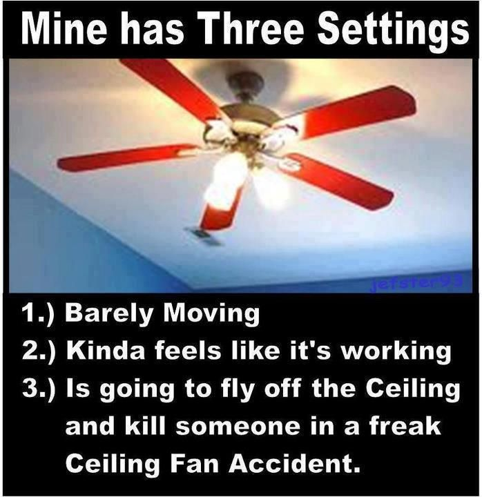 accurate.: Funny Pictures, Truths, Funny Stuff, So True, Fans Sets, Funnystuff, Three Sets, True Stories, Ceilings Fans