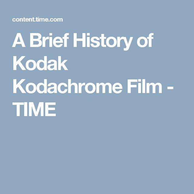 A Brief History of Kodak Kodachrome Film - TIME