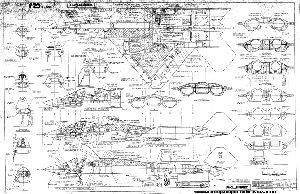 Northrop YF-23 ATF plans & drawings. YF-23 3 view drawing