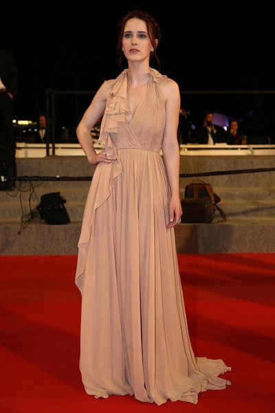 """Rachel Brosnahan Photos Photos - Rachel Brosnahan departs after the Premiere of """"Louder Than Bombs"""" during the 68th annual Cannes Film Festival on May 18, 2015 in Cannes, France. - 'Louder Than Bombs' Premiere - The 68th Annual Cannes Film Festival"""
