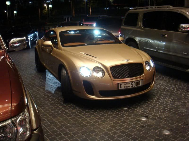 Gold Bentley Continental Supersports in Dubai...so effing sexy <3