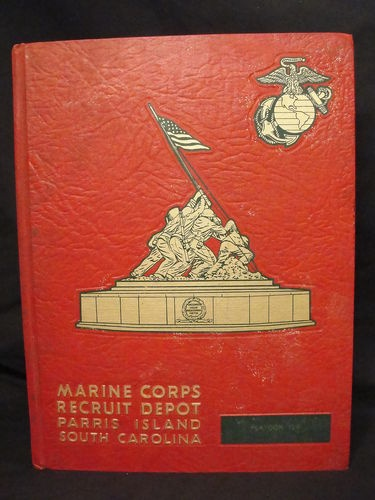 US  Marine Corps Recruit Depot Platoon 318 Company Q Parris Island 1964 yearbook