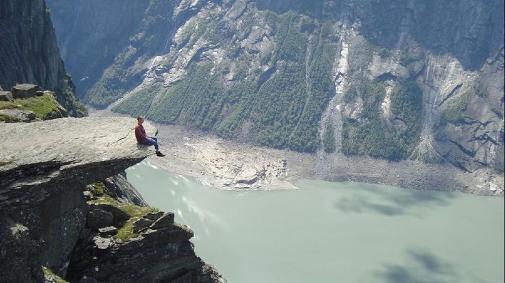 Trolltunga, Norway Trolltunga is a piece of rock that juts out out of a mountain about 2,300 ft above the north side of the lake Ringedalsvatnet in the municipality of Odda in Norway Src: 50 Amazing Vertigo-Inducing Attractions - weather.com