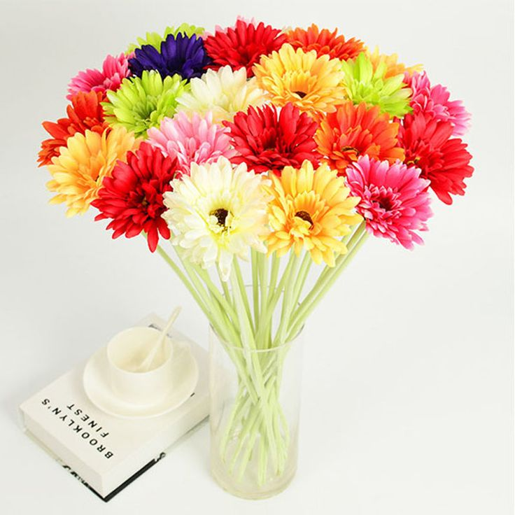 Cheap flowers factory, Buy Quality flower carts for sale directly from China flower distributor Suppliers:                                               Beautiful 6 Colors Artificial Gerbera Decorative Flowers For Din