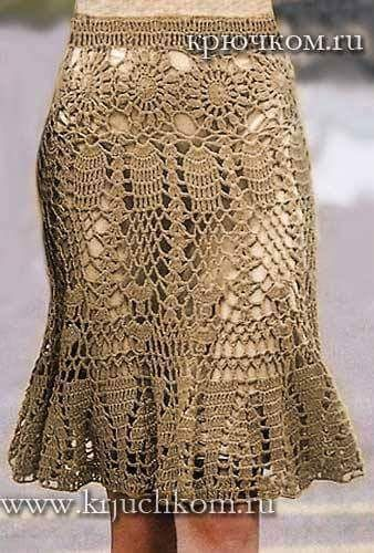 Saias em Crochê Modelos Variados com Gráfico - Katia Ribeiro Moda e Decoração…