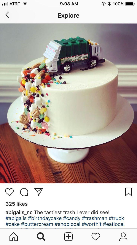 Müllwagen-Kuchen – #Cake #Garbage #truck – #cake #Garbage #cakes    – Kindergeburtstag