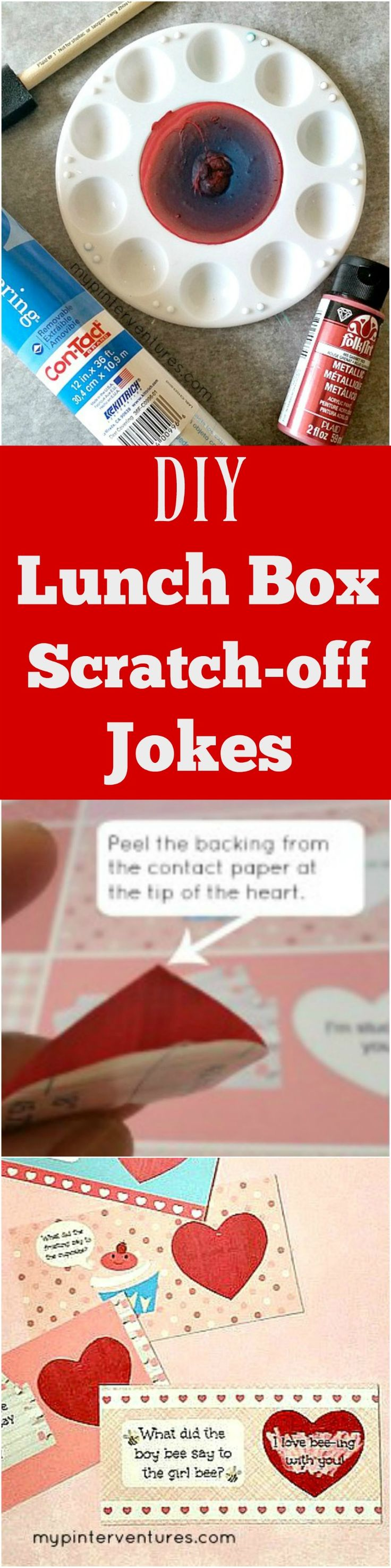 Valentine's Day FREE lunch box joke printable and scratch-off paint.